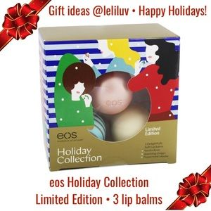 Gift idea! Eos 3-pack lip balms in Holiday Edition